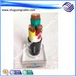 Os Multi-Núcleos 8.7kv XLPE isolaram o cabo distribuidor de corrente blindado grosso Sheathed PVC de fio de aço