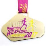 O esporte do metal concede a medalha dourada do fabricante do medalhão para o vencedor