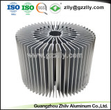 Ronda de fábrica de extrusão de alumínio de girassol do dissipador de calor com o ISO9001