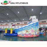 巨大で膨脹可能な象水公園、プール水公園のゲームが付いている水スライド