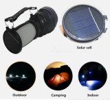 Lanterna di campeggio esterna solare multifunzionale portatile della torcia elettrica che fa un'escursione emergenza chiara della lampada del Campsite della tenda LED
