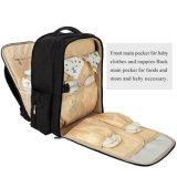 Unisexe sac momie noir étanche Diaper sac à dos avec coussinet de remplacement