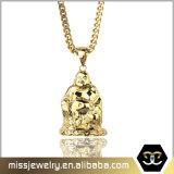 Le pendant de collier de Bouddha d'or d'hommes conçoit Mjhp116