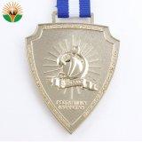 주문을 받아서 만들어진 로고를 가진 최신 판매 금 도금 금속 메달