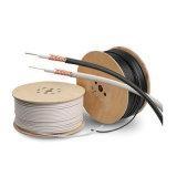 Коаксиальный кабель Rg59 0.81mmccs высокого качества, 3.8mmfpe, 112*0.12mmalmg, Od: PVC 6.1mm черный