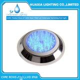 IP68 luz subacuática llenada resina impermeable de la piscina del acero inoxidable LED