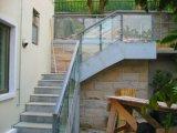 Railing нержавеющей стали балкона 304 лестницы самомоднейшей конструкции напольный