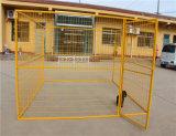 Cage bon marché de crabot de prix usine de frontière de sécurité de crabot de maillon de chaîne de grande frontière de sécurité de crabot
