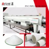 Linha de tubo de PVC automática com extrusora de duplo fuso