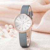 Reloj de manera clásico de la mujer del regalo de la correa de cuero del ODM del OEM (Wy-126B)
