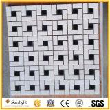 Het Natuurlijke Marmeren Mozaïek van uitstekende kwaliteit, het Witte/Zwarte Marmeren Mozaïek van de Steen