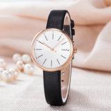 Relógio de forma clássico da mulher do presente da cinta de couro do ODM do OEM (Wy-126B)