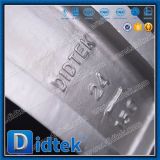 Клапан-бабочка вафли нержавеющей стали Didtek с Chainwheels