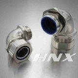 Bronze de Hnx conetor apertado impermeável de aço da câmara de ar de 90 graus