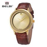 De Mensen van Belbi letten op het Toevallige Horloge van het Kwarts van de Legering van het Leer van het Gezicht van de Zon van de Reeks van de Manier Waterdichte