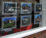 Scatola chiara di cristallo LED per la finestra degli agenti immobiliari