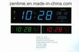 L'horloge numérique couleur LED montrant la date