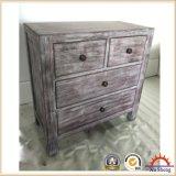 Gabinete da madeira contínua do vintage com 2 Doorsand 2 gavetas. Tabela lateral Nightstand.
