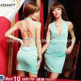 "A senhora ""sexy"" Barra KTV da venda quente apoia o Nightgown quente das mulheres à moda Backless da roupa interior"
