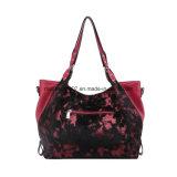 Grande sacchetto rosso della signora spalla di rivestimento della pelliccia di modo (MBNO042046)