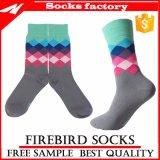 China-Fabrik-glückliche Mann-kundenspezifische Baumwollkleid-Gefäß-Knöchel-Socken