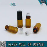3mlは香水瓶のこはく色のガラスロールを空ける