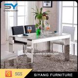 Muebles caseros que cenan el vector de cena de cristal blanco del vector de cena del conjunto