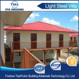 Дома светлого датчика стальные Prefab для гостиницы курорта