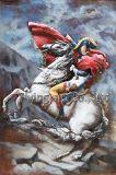 Pittura del metallo della decorazione 3D della parete per Napoleon