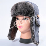 プラシ天の冬の羊毛のEarflapsの帽子