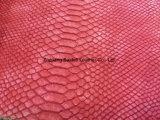 Schlange-Muster Belüftung-Leder für Dame Handbag/Shouldbag/Mappe/Buch deckte ab