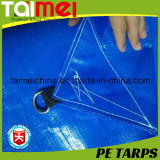 Bâche de protection de PE de bâche de protection de clip D avec traité aux UV