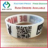 Wristband della gomma del silicone personalizzato codice a barre/silicone di stampa