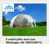 шатер геодезический купола структуры алюминия 5-30m с цветастой тканью PVC