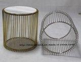 Le restaurant de répliques Loisirs Meubles Table à manger en marbre de fil métallique