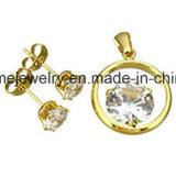 De Oorring van het Gouden Plateren van de Vrouwen van de Manier van de Juwelen van Shineme (ERS7012)