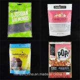 Aluminiumfolie-Fastfood- verpackennahrungsmittelplastiktasche mit Reißverschluss