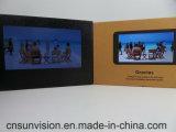 """5つの"""" 7つの"""" IPSスクリーンLCD音楽カードビジネスパンフレット"""