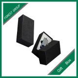 Caixa de presente preta do cartão do quadrado da cor