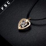 Collana di amore placcata oro Pendant della Rosa della collana del cuore per la ragazza