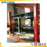3500kgs due elevatore dell'automobile del piatto di pavimento della versione manuale del punto 220V