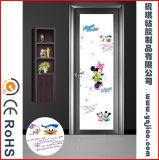 Europäische Art wasserdichte Plastiküberzogene Badezimmer-Innentür der Belüftung-Film-Tür-WPC mit Glas