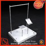 Crémaillères de vêtement en métal/fil en métal et brides de fixation commerciales de &Clothes de meubles de Stand&Display d'étalage de Display& pour des systèmes/mémoires
