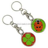 좋은 가격 주문 다채로운 연약한 사기질 로고 Keychain