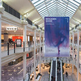 Дешевое высокое качество рекламируя освещенный контржурным светом висеть торговой выставки/печатание знамени ткани Frontlit