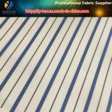Tela teñida de la guarnición del juego de la raya de los hilados de polyester. Tela tejida de la guarnición de la materia textil (S76.77)