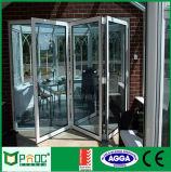 Portello di piegatura di alluminio cinese della Bi con vetro Tempered