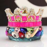 Perfume com os diamantes no frasco de perfume do carro do ornamento do carro dos acessórios do carro da coroa (TS-545)