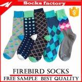 Kalb-Kleid-Socken der Männer gekämmte Baumwolle gekopierte MITTLERE