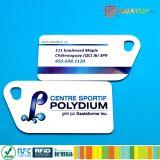 HUAYUANの忠誠会員システムNtag213 NFC PVC RFIDスマートな小型Keytagホテルの鍵カード